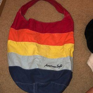 American eagle rainbow tote bag